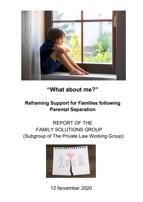 """What about me?"" Reframing Support for Families following Parental Separation"