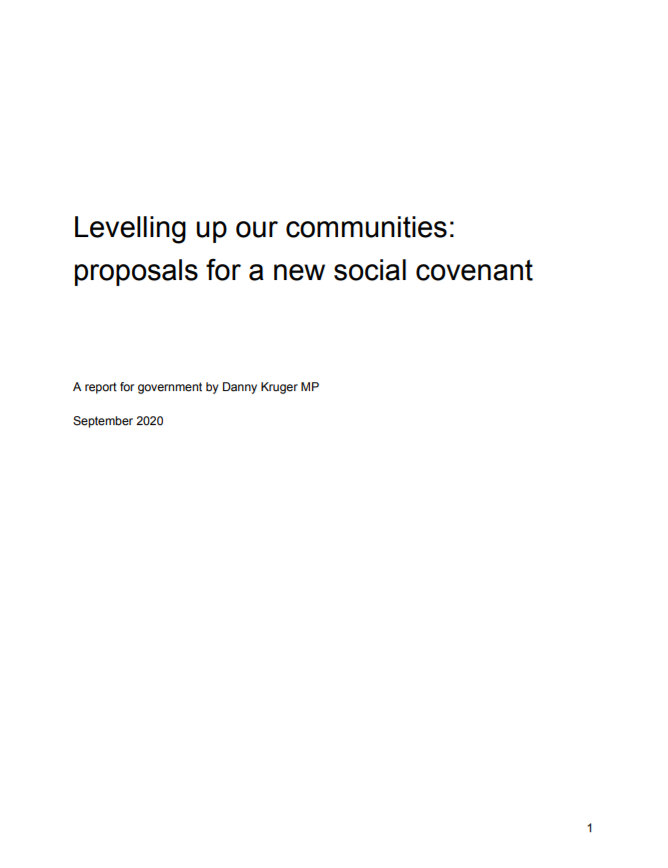 Levelling up our communities: proposals for a new social covenant